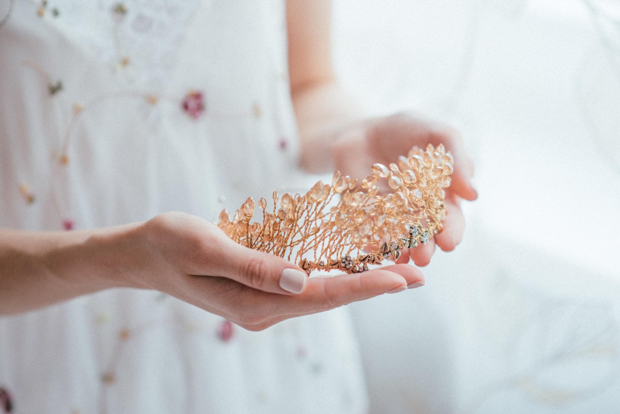 Свадебная корона из Swarovski