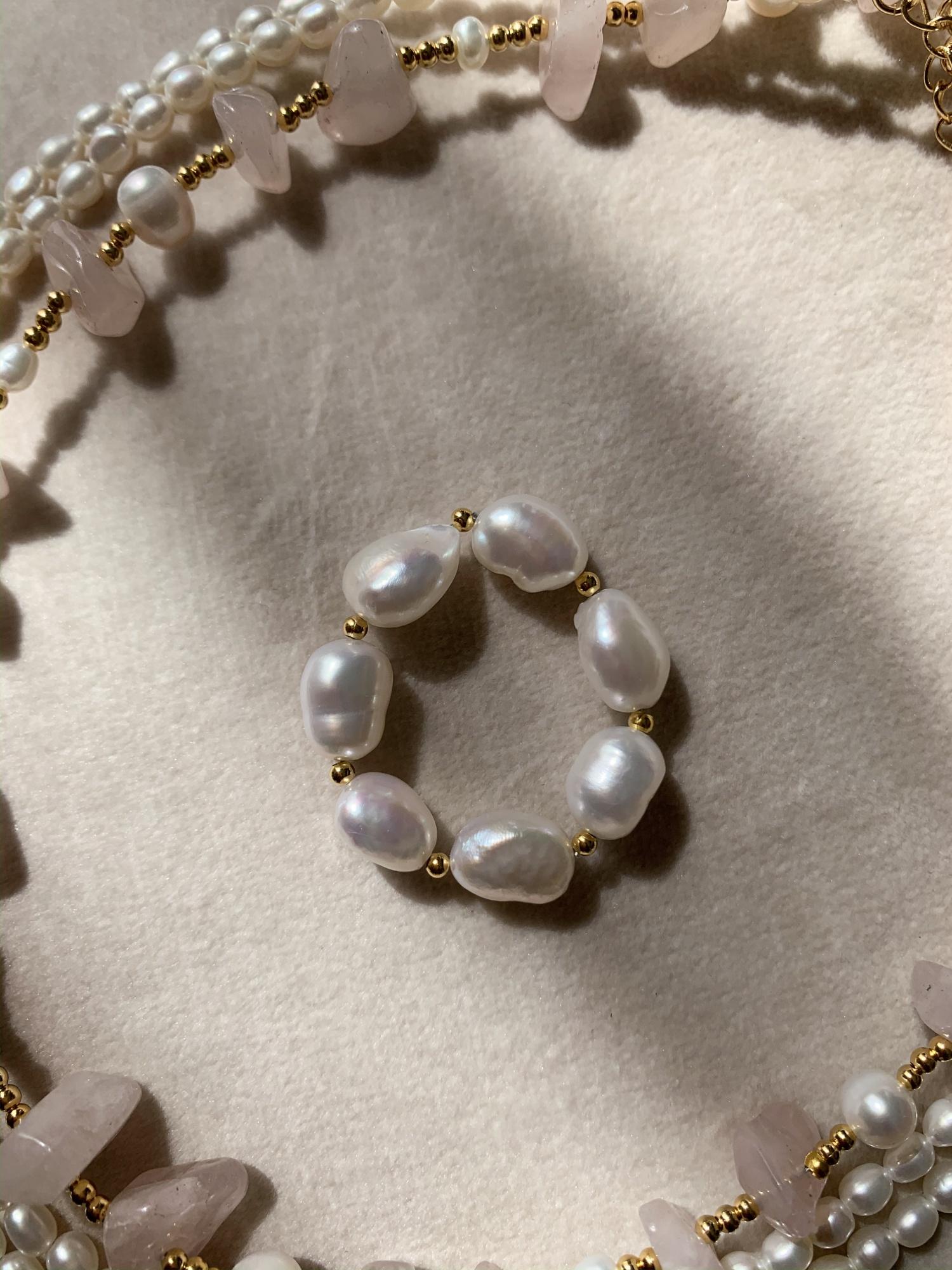 Подвеска-кольцо из натурального жемчуга